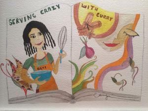 Serving Crazy with Curry, Original Art